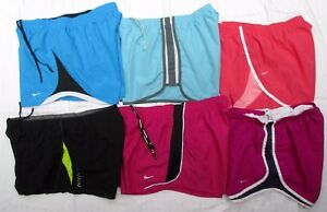 Lot of 6 Nike Tempo Pacer Under Armour ECO Green Running Shorts Women's L