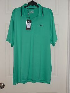 NWT Men's Size 2XL XXL Under Armour Loose Fit Polo Golf Shirt COLDBLACK Green