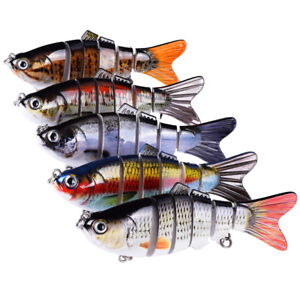 5pcs Swimbait Lures Crank Bass Pike Life Fishing Lures Baby Multi-jointed Bait