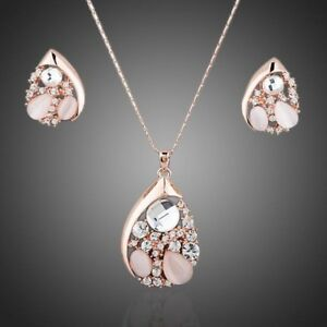 Party Crystal Necklace and Earrings Set for Women Ladies Girls MJG0053