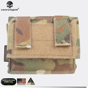 EMERSON Tactical Helmet Cover Removable Rear Pouch Accessory Army Airsoft EM9339