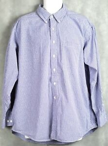 Mens Brooks Brothers Sport Shirt Long Sleeve Button Front Size XL