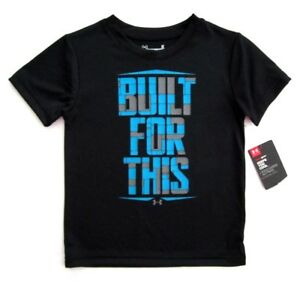 Under Armour Boys Black Short Sleeve 'BUILT FOR THIS' Graphic Tee T-Shirt