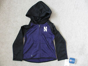 $46 NEW UNDER ARMOUR Northwestern Wildcats Full Zipper Hoodie Jacket Toddler 4T