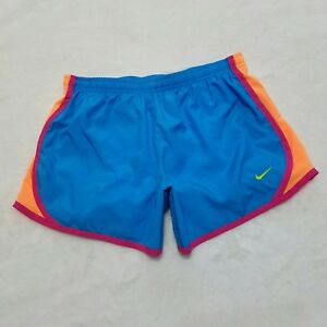 Nike Big Girls Large Dry Fit Tempo Running Shorts Blue Active Athletic