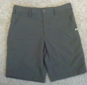 Nice Mens Under Armour UA Bent Grass Golf Shorts Olive Size 34 1236343 Green