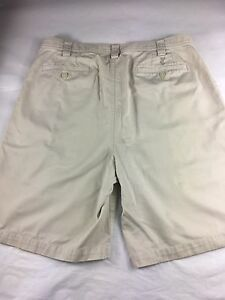 Mens Ashworth Beige Casual Golf Shorts Size 34