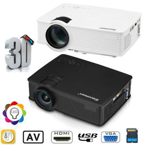 MINI 7000LUMEN 3D 1080P HD LED VIDEO PROJECTOR HDMIUSBSDAVVGA HOME CINEMA US