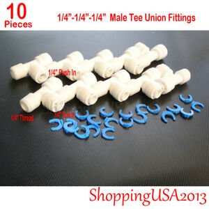 10 X Quick Connect Straight Fitting Connector 1/4-1/4