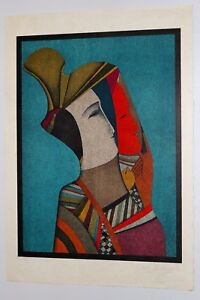 Double Portrait of Rebecca With Mask Mihail Chemiakin Rare Ltd Edition Litho S N $650.00