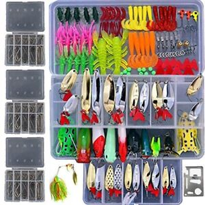 279pcs Fishing Lure Set Including Plastic Soft Lures Frog Lures Soft Fishing