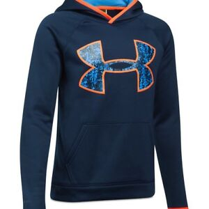 NEW UNDER ARMOUR BOYS' BIG-LOGO HOODIE