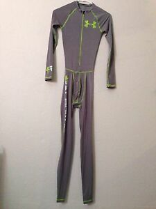 Men's Under Armour Recharge Energy FULL BODY Suit Small Gray male Compression Sm