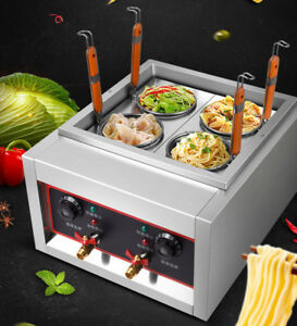 Commercial 4 Baskets Electric Noodles Cooker / Pasta Cooking Machine 220V 5kw