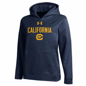 Under Armour Cal Bears Youth Navy Alt Logo Pullover Hoodie - College
