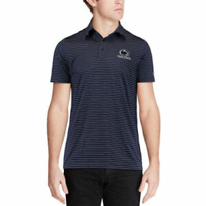 Under Armour Penn State Nittany Lions Navy Playoff Stripe Performance Polo
