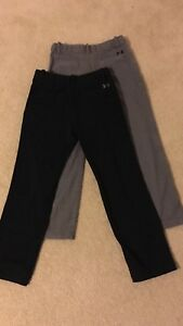Boys Youth Large YLG Under Armour Pants athletic dress black casual golf