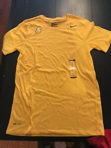 NWT Men's Nike FIT DRY Yellow T-Shirt!  SIZE SMALL!  SWOOSH!