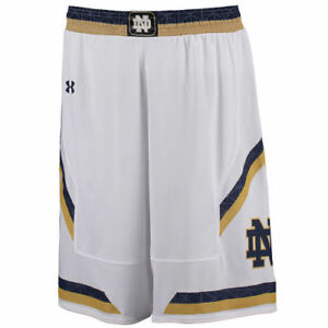 Under Armour Notre Dame Fighting Irish White Replica Basketball Shorts -