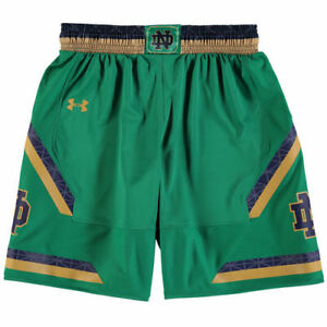 Under Armour Notre Dame Fighting Irish Youth Green Replica Basketball Shorts