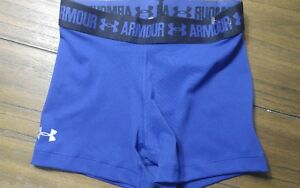 Girl's Under Armour Heat Gear Fitted Shorts Size Youth XS Purple
