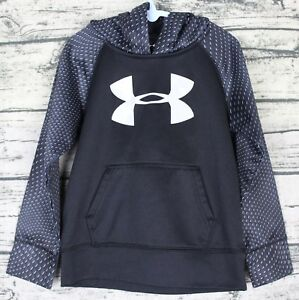 UNDER ARMOUR Toddler Boy's Size 4T Long Sleeve Black Pullover Shirt Hoodie