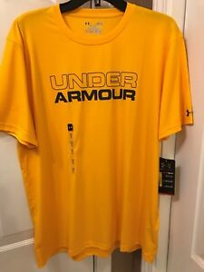 NWT ~MEN'S UNDER ARMOUR HEAT-GEAR T-SHIRT SIZE LARGE LOOSE FITSTAYS COOL