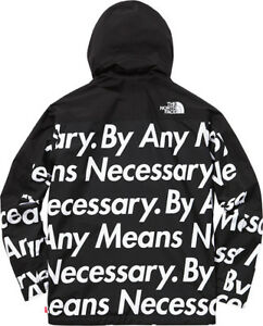 Supreme x TNF The North Face By Any Means Necessary Pullover Jacket Large -Rare-