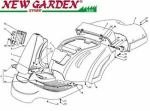 Exploded Body Parts 28 5/16in XF130 Mower Lawn Mower Castelgarden 2002-13 Parts