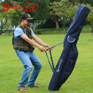 Fishing Folding Rod Reel Bags Pole Carrier Travel Organizer Portable Carry Case