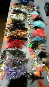 Musky Muskie Pike Fishing Lure Lot - Bucktails and Spinnerbaits