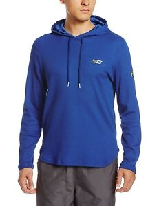 UNDER ARMOUR SC30 Thermal Waffle Hoodie Blue Steph Curry Warriors $60 YLG Boys