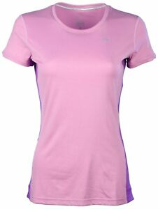 Nike Womens Dri-Fit Miler Short Sleeve Running Crew-Mauve-Small