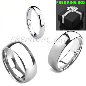 Tungsten Carbide Classic Silver Wedding Band Mens Womens Engagement Bridal Ring $9.99