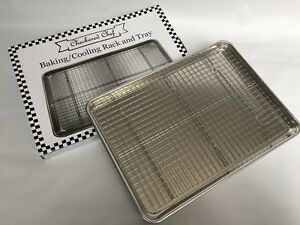 Checkered Chef Half Sheet Pan and Rack Set - Aluminum Cookie Sheet Baking Sheet