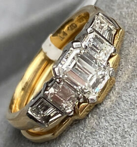 Platinum Gold 1.94 ctw VS F-G Diamond Engagement Ring Wedding Band Set Certified