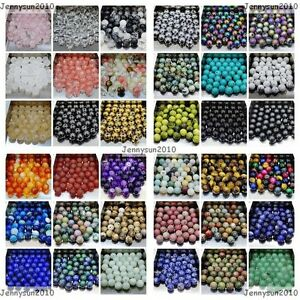 Wholesale Natural Gemstone Round Spacer Loose Beads 4mm 6mm 8mm 10mm 12mm Pick $1.44