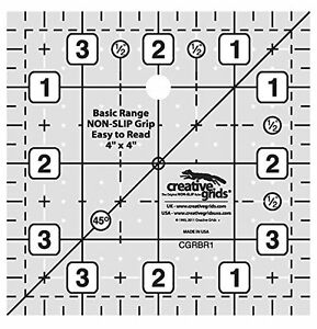 Creative Grids Basic Range 4quot; Square Quilting Ruler Template $10.95
