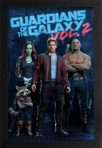 GUARDIANS OF THE GALAXY VOL. 2  POSTER 13x19 FRAMED GELCOAT MARVEL COMICS MOVIES