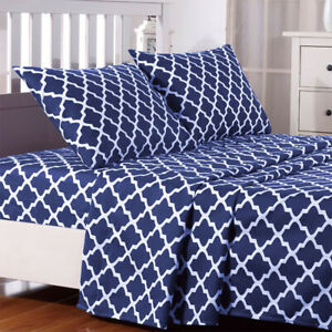 Egyptian Comfort Bed Sheet Set 1800 Series 4 Piece Deep Pocket Soft Bed Sheets $21.50