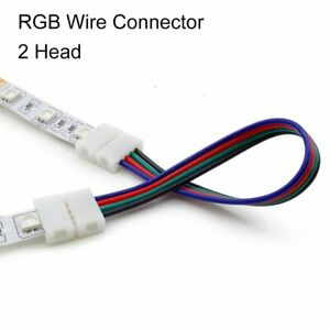Solderless 2835/3528 8mm Clip-on PCB Connector RGB LED Strip 4Pin Connectors