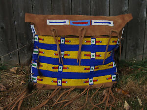 Large Plains Style Beaded Hide Possibles Bag
