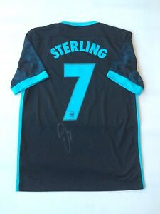 Nike Manchester City Signed Shirt (Sterling)