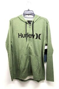 Hurley Nike Dry-Fit Green Men's Jogging Hoodie and Shorts Size M