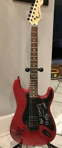 Good Charlotte Autograped Signed Squier Bullet Guitar *Sony COA*
