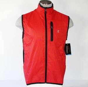 Izod XFG Golf Zip Front Red Wind Shirt Vest Mens M NWT $100