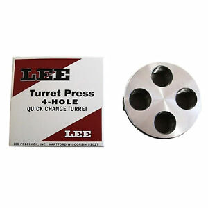 Lee Silver Precision 4 Hole Turret Press for Caliber Changes Quick Easy Durable