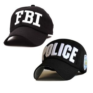 POLICE FBI Embroidered Baseball Caps Cotton Snapback Hats for Men Women Bone Cap