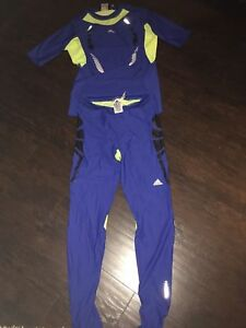 adidas Speedsuit Skinsuit Tights Compression suit shirt running track and field