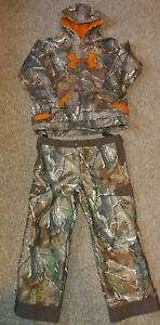 Under Armour Realtree Camo Snow Ski Suit Hooded 2 pc Boys Youth Sz XL 18-20